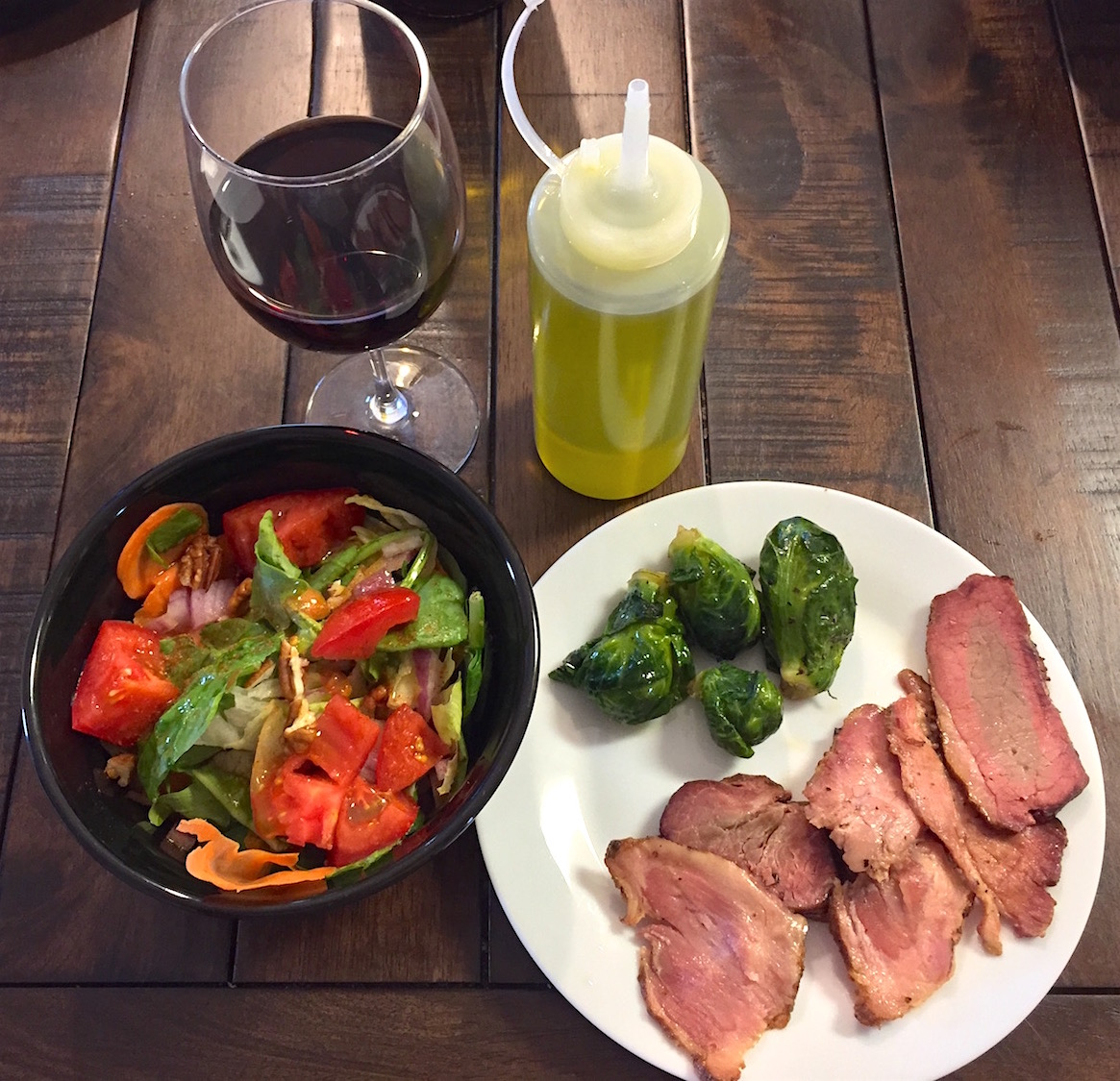 brisket-salad-dinner
